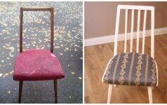 Darau pats: kaip atnaujinti kėdžių komplektą vos už 25 eurus