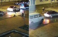 Nufilmavo kraupų vaizdą: automobilis perėjoje partenkė šunį ir nė nestabtelėjo