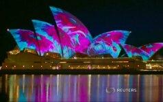 Prasidėjo kasmetinis Sidnėjaus šviesų festivalis