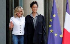 E. Macronas Eliziejaus rūmuose susitiko su Rihanna