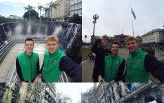 Po 16 valandų kelionės Lietuvos krepšinio rinktinė – pagaliau Pietų Amerikoje