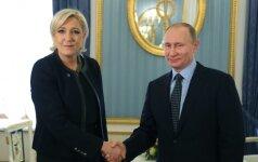 Vladimiras Putinas ir Marine Le Pen