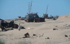 Nykstanti jūra: laivų kapinės vidury dykumos