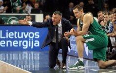 """Š. Jasikevičius įvertino """"Žalgirio"""" pergalę ir kritikavo apie krepšinį rašantį žurnalistą"""