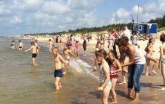 Palangoje šimtai vaikų pirmą kartą pamatė jūrą