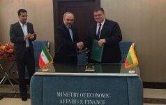 Lietuva pasirašė susitarimą su Iranu dėl ekonominio bendradarbiavimo