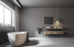 Ar betoninės grindys tinka vonios kambariui?