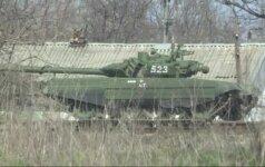 Šalia Ukrainos sienos dislokuota dešimtys modernių Rusijos tankų