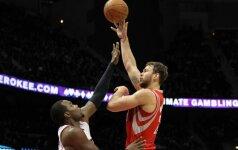 """Akibrokštas: D. Motiejūnas grįžta į """"Rockets"""" ekipą"""