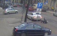 Išplatino vaizdo įrašą, kaip Vilniuje partrenktas buvęs Kauno meras V. Šustauskas