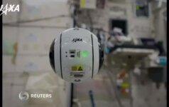 Tarptautinėje kosmoso stotyje skraidantis dronas atsiuntė pirmuosius vaizdus