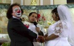 Neįprastos vestuvės: klounas vedė savo išrinktąją