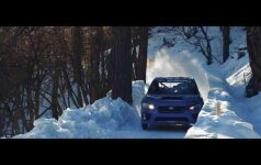"""""""Subaru WRX STI"""" išbandė bobslėjaus trasą"""