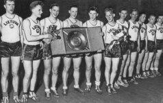 """""""Žalgirio"""" arenoje – unikali 1937-ųjų Lietuvos krepšinio triumfo fotografijų paroda"""