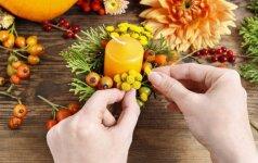Pasidaryk pats: skoningos žvakidės iš rudens gėrybių