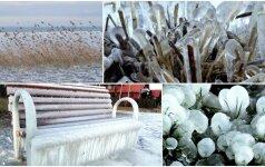 Nidos pakrantė įsileido žiemą: vaizdai verti milijono