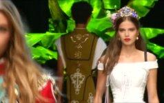 """Spalvinga ir muzikali """"Dolce & Gabbana"""" šventė Milane"""
