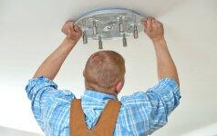 Specialisto konsultacija: kaip sumontuoti lubinį šviestuvą
