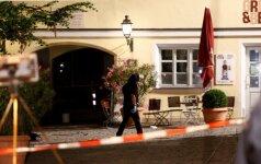 Vokietijos Ansbacho mieste savižudis detonavo bombą bare