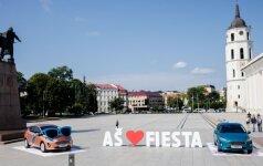 Ford Fiesta pristatymas Katedros aikštėje Vilniuje