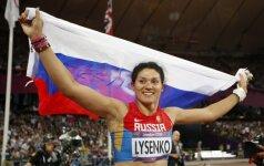 Tatjana Lysenko – diskvalifikuota Rusijos kūjo metikė