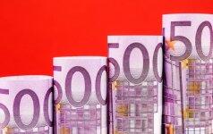 500 eurų banknoto likimas pakibo ant plauko