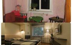 PRIEŠ ir PO: 50 kv.m butas – iš bjauriojo ančiuko į gulbę