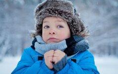 Kodėl žiemą ypatingai reikia saugoti vaikų akis