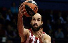 """Išskirtinės V. Spanoulio rungtynės ir įtikinama Pirėjo """"Olympiakos"""" pergalė"""