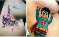 Tatuiruotės intymiose kūno vietose