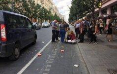 Vilniaus senamiestyje partrenkta iš greito maisto restorano vos išėjusi moteris