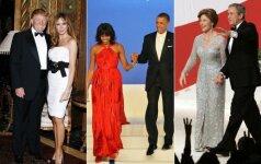 Kaip keitėsi pirmųjų JAV damų apranga inauguracijų metu?