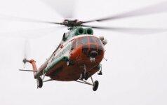 Kariškių sraigtasparniu skraidino gyvybiškai svarbų siuntinį