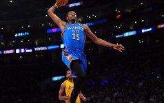 """NBA lygoje – 43 K. Duranto taškai ir """"Nets"""" nesėkmė Čikagoje"""