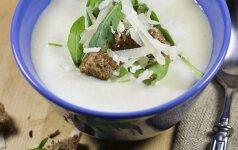 VIRK. Kreminė gražgarsčių sriuba su saliamiu