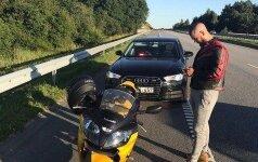 """""""Juodoji ponia"""" pričiupo kone 200 km/h greičiu Palangos plente lėkusį motociklininką"""