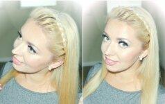 Stilistė Gražina moko: greitai padaroma šukuosena-lankelis VIDEO