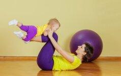 Į sporto salę – vos su 3 mėnesių kūdikiu