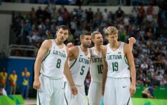 """LKF krepšinio rinktinės pasirodymą Rio įvertino žodžiu """"gerai"""", A. Saboniui kilo klausimų"""