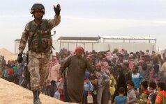Sirai pabėgėliai Jordanijos pasienyje