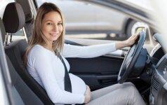 Už vairo sėdi nėščioji: ko nevalia pamiršti