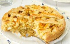 Raugintų kopūstų pyragas su grybais