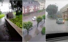 Lietus Jurbarke