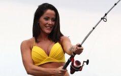 Realybės šou žvaigždutė parodė, kaip apsirengus reikia traukti į žvejybą