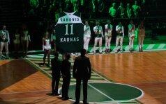"""Ypatingai pagerbtas A. Sabonis: """"Žalgiris"""" – tai daugiau nei krepšinis"""