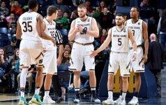 M. Gebeno komanda nepateko į NCAA pirmenybių aštuntfinalį