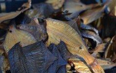 Palangoje pavogta 18 dėžių rūkytos žuvies