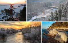 Lietuvos parkus išgražino žiema: išrink gražiausią nuotrauką