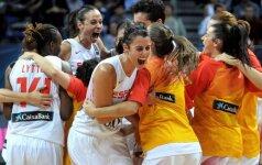 Dėl moterų pasaulio krepšinio čempionato aukso kovos JAV ir Ispanijos rinktinės
