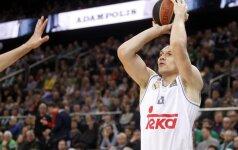 """J. Mačiulis padėjo """"Real"""" laimėti, M. Kuzminskas savo komandos neišgelbėjo"""